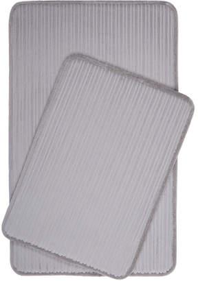 Christian Siriano Home Dynamix Spa Retreat 2-Piece Memory Foam Microfiber Bath Mat Set Bedding
