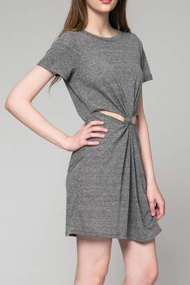 Honey Punch Heathered Cut Out Dress