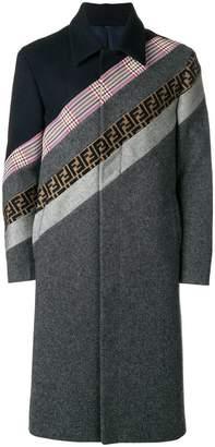 Fendi panelled stripe coat