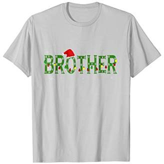 Brother Christmas Pajama Santa Hat Family Matching Shirt