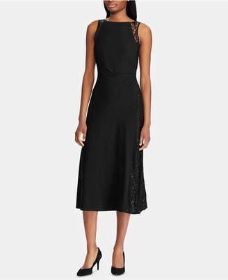 American Living Lace-Trim Jersey Dress