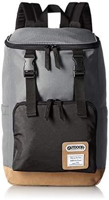 Outdoor Products (アウトドア プロダクツ) - [アウトドアプロダクツ] OUTDOOR PRODUCTS スクエアフラップリュック 44cm OUT-0203 GY (グレー)