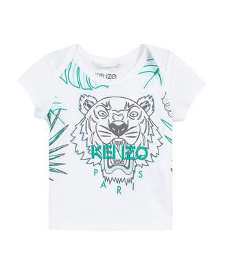 f8af6ef56 Kenzo Hawaiian Tiger Print T-shirt Colour: WHITE, Size: 9 Months