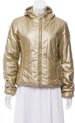 Prada Sport Metallic Puffer Coat