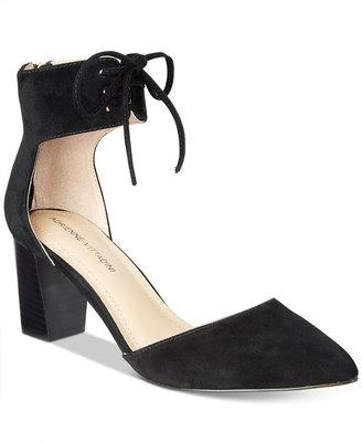 Adrienne Vittadini Nicole Lace-Up Pumps Women's Shoes $99 thestylecure.com