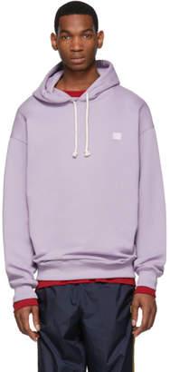 Acne Studios Purple Oversized Farrin Face Hoodie