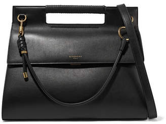 Givenchy Whip Large Leather Shoulder Bag - Black