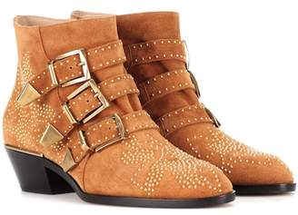 Chloé Exclusive to mytheresa.com – Susanna studded suede ankle boots