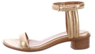 Aquatalia Metallic Low Heel Sandals