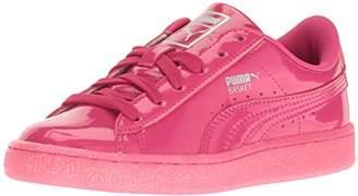 Puma Girls' Basket Patent Iced Glitter PS Boat Shoe