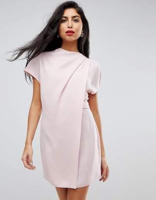 Asos DESIGN Drape Front Tab Side Mini Dress