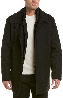 Ike Behar Upton Wool-Blend Coat