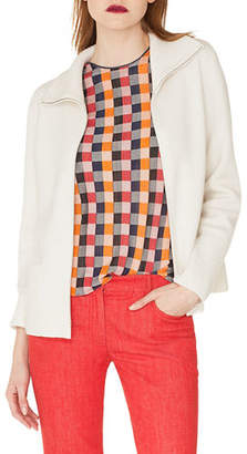 Akris Zip-Front Stand-Collar Cashmere Knit Cardigan