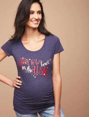 Motherhood Maternity About to be Born in the USA Maternity Tee