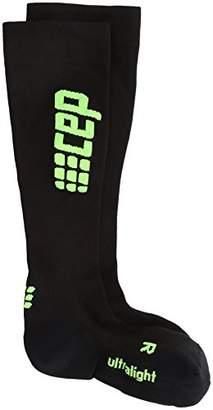CEP (シーイーピー レディース ランウルトラライトソックス ロングソックス レース WP45-U ブラック/グリーン 2
