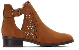 La Redoute COLLECTIONS Openwork Faux Suede Boots
