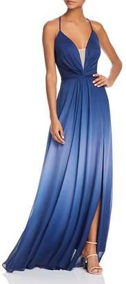 Aqua Ombré Tie-Back Gown - 100% Exclusive