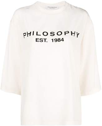 Philosophy di Lorenzo Serafini logo print oversized top