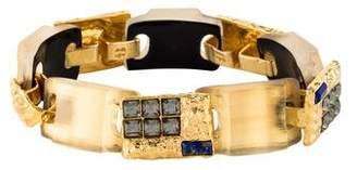 Alexis Bittar Lapis, Crystal & Lucite Bracelet