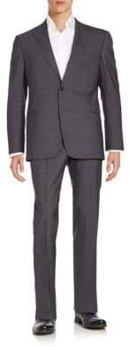 Armani Collezioni Regular-Fit Solid Wool Suit