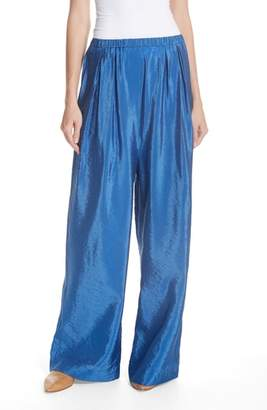 Christian Wijnants Papak Satin Wide Leg Pants