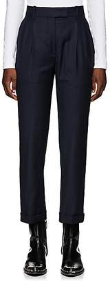 Calvin Klein Women's Checked Wool Pleated Trousers