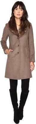 Lauren Ralph Lauren Shawl Collar Faux Fur Reefer Women's Coat