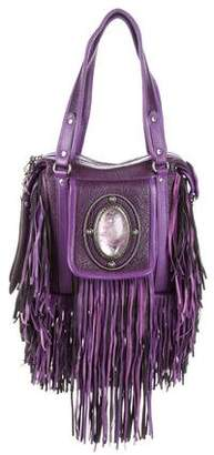 Etro Runway Campaign Red Leather Fringe Shoulder Bag