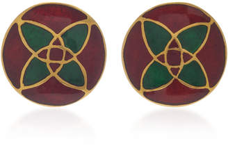 Amrapali 18K Gold and Enamel Earrings