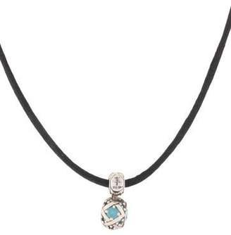 John Hardy Batu Blue Topaz Pendant Necklace