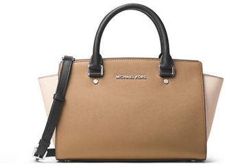MICHAEL Michael Kors Selma Medium Top-Zip Satchel Bag $298 thestylecure.com