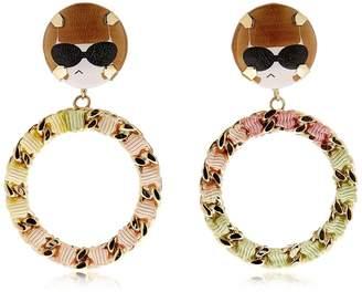 Anna Chain Hoop Earrings