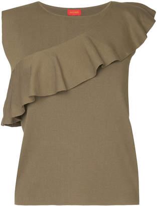 TOMORROWLAND frill trim sleevless knnit top