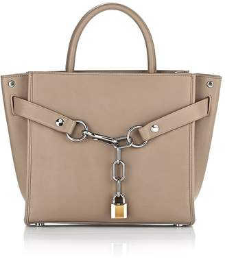 Alexander Wang Attica Chain Satchel In Light Nude With Rhodium