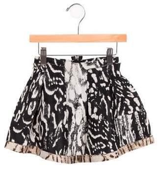 Lanvin Petite Girls' Jacquard Pleated Skirt w/ Tags