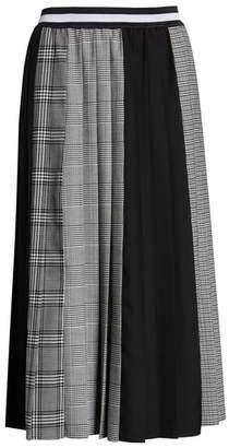 Halogen Plaid A-Line Skirt