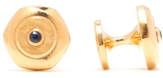Dunhill Hex Gold Plated Sterling Silver Cufflinks - Mens - Silver Gold