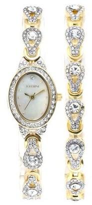 Elgin Women's Tear Drop Watch and Bracelet Set