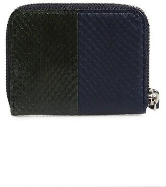Women's Allsaints Ikuya Leather & Genuine Snakeskin Wallet - Grey $108 thestylecure.com