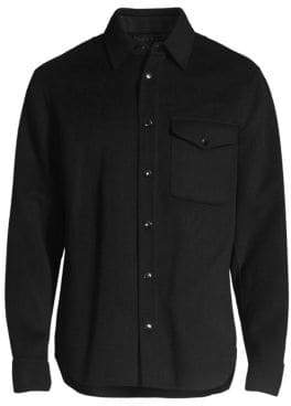 Rag & Bone Principle Stretch Wool Long-Sleeve Shirt Jacket