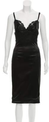 Dolce & Gabbana Satin Bodycon Dress