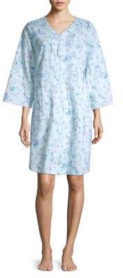 Miss Elaine Floral Quilted Nightgown