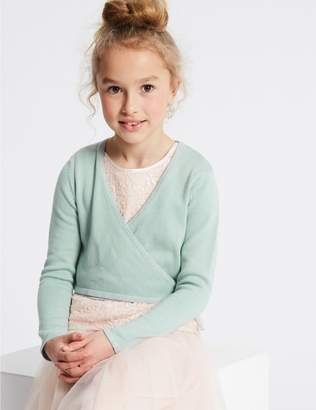 Marks and Spencer Pure Cotton Tie Waist Cardigan (1-16 Years)