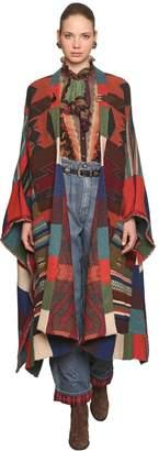 Etro Oversized Wool Blend Knit Cape