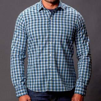 Blade + Blue Blue & Grey Heather Check Shirt - Teddy