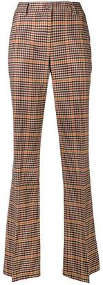 P.A.R.O.S.H. checkered high-waisted trousers