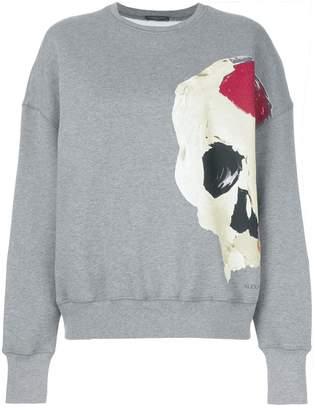 Alexander McQueen abstract skull print sweatshirt