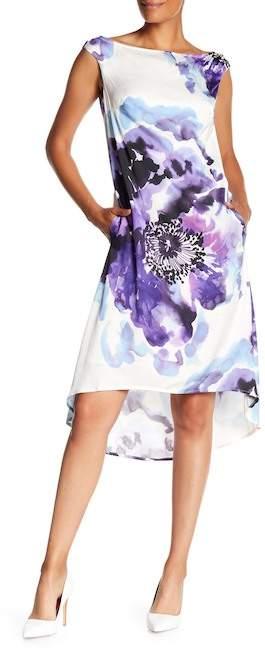 Kindred Floral Print Hi-Lo Dress