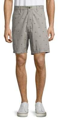 John Varvatos Printed Cotton Shorts