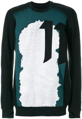 11 By Boris Bidjan Saberi printed 11 sweatshirt